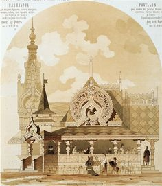 motifs of ancient Russian architecture (Exposition Universelle,Paris 1878 ) Wooden Architecture, Russian Architecture, Architecture Portfolio, Architecture Drawings, Historical Architecture, Architecture Details, Architecture Diagrams, Wood Arch, Timber Structure