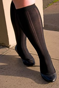 Sheer Pattern Knee High