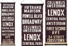 """HUGE """"NYC Subway Stations"""" Wall Banner - From Antiquefarmhouse.com - http://www.antiquefarmhouse.com/current-sale-events/accent22/nyc-subway-station-wall-art.html"""