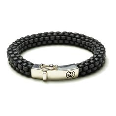 Rebel and Rose Absolutely Leather Black Square Armband RR-L0006-S