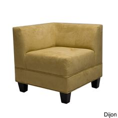 @Overstock.com - Makenzie Loden Corner Chair  - Make the most of a small space with this convenient corner chair. The Makenzie chair is constructed with a sturdy, espresso-colored wood frame and upholstered in rich, luxurious micro-suede upholstery, creating the ideal spot to read or relax.  http://www.overstock.com/Home-Garden/Makenzie-Loden-Corner-Chair/5961448/product.html?CID=214117 $175.99