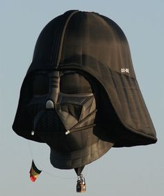 """""""Ground control to Darth Vader! Darth Vader hot air balloon created by Belgian Star Wars fan Benoit Lamber. Air Ballon, Hot Air Balloon, Darth Vader, Starwars, Balloon Rides, The Force Is Strong, Star Wars Humor, Cultura Pop, The Villain"""