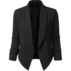 LE3NO Womens Textured 3/4 Sleeve Open Blazer Jacket (78 BRL) ❤ liked on Polyvore featuring outerwear, jackets, blazers, 3/4 sleeve blazer, textured jacket, textured blazer, three quarter sleeve jacket and blazer jacket