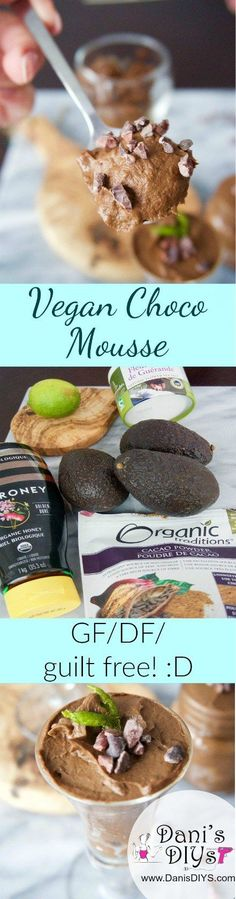 Decadent Vegan Chocolate Mousse - Step aside traditional chocolate mousse, there's a new STAR in town! Only 5 minutes to put together, this heart healthy dessert is perfection!