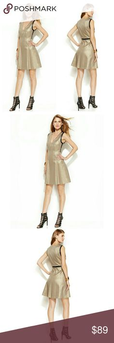 c19fe04a7b DKNYC Metallic Flare Party Cocktail Dress NWT Glam it up all night long in
