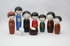 9-pc Kokeshi Nativity Set – Kokeshi Designs
