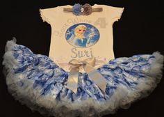 Custom Disney Frozen Birthday Outfit Frozen Elsa by SuriMarie, $38.50