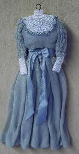 Miniature blue dress
