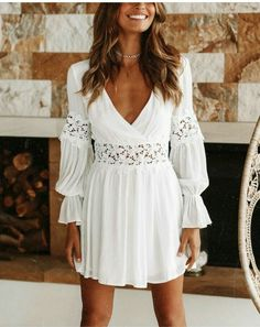 Party Dresses macys plus size dresses retro party dress checkered dress – dearlly White Lace Mini Dress, White Floral Dress, Lace Dress, Womens White Dress, White Cotton Summer Dress, White Long Sleeve Dress, Cheap Dresses, Day Dresses, Plus Size Dresses