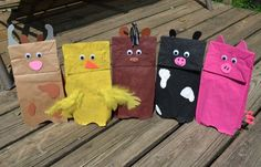 Here's our collection of Farm Themed Brown Paper Bag Puppets for Preschool: The…