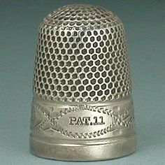 Antique-Sterling-Silver-Clad-Dorcas-Thimble-w-Hand-Engraved-Band-Circa-1890s