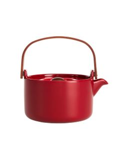 Oiva teapot Decór | Our Oiva teapot designed by Sami Ruotsalainen is decked out in red for the holidays. Also spot-on for serving mulled wine! 7 dl. |  133-134 - 1 | Marimekko