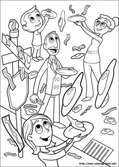 Cloudy with a chance of meatballs coloring picture. Party favor or activity?
