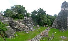 One of the major sites of Mayan civilization. Tikal, Guatemala.