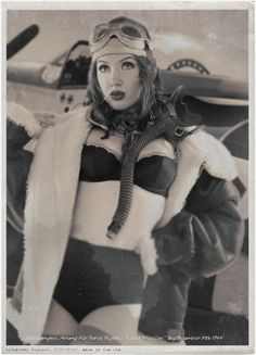 Steampunk girls - via - fighter pilot...
