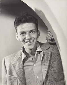 A very young Frank Sinatra, today is his birthday.