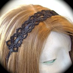Tatted lace Headband - I think this could be done with several of the bookmark patterns! Sweet!