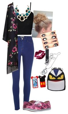 """Untitled #736"" by salleanna on Polyvore featuring River Island, WearAll, Palm Beach Jewelry, Vans, Manic Panic, Usagi, women's clothing, women's fashion, women and female"
