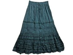"""Gypsy Skirt for Women Teal Green Bohemian Clothing Cotton Skirts 38"""" Mogul Interior, http://www.amazon.com/dp/B0098G9L8E/ref=cm_sw_r_pi_dp_8bCtqb1C5ZP4T$24.99"""