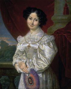 1830 Louis-Francois Aubry - Portrait of a lady