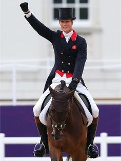 William Fox-Pitt of Great Britain riding Lionheart competes in the IndividualDressageevent on Day 2 of the London 2012 Olympic Games at Greenwich Park.