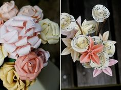 origami flowers!  these are so pretty!