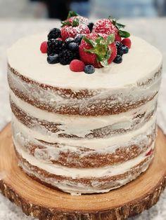 Diy Wedding Cake Recipe Awesome 22 Ideas For 2019 Rustic Birthday Cake, Fruit Birthday Cake, Vanilla Fruit Cake Recipe, Vanilla Cake, Cupcakes, Cupcake Cakes, Fruit Recipes, Cake Recipes, Nake Cake