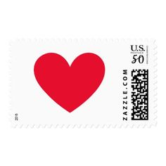 Love stamp 2018 red on white valentines day gifts gift idea diy red heart postage red gifts color style cyo diy personalize unique negle Gallery