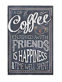 Gift Craft A Cup of Coffee Wall Plaque Chalkboard I Love Coffee, Coffee Art, My Coffee, Coffee Shop, Coffee Cups, Drink Coffee, Coffee Chalkboard, Chalkboard Signs, Chalkboards