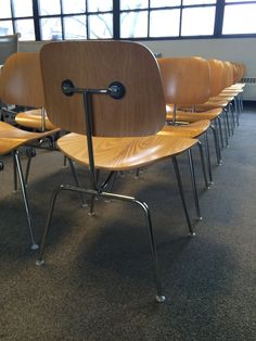 #Eames DCM chairs by @hermanmiller