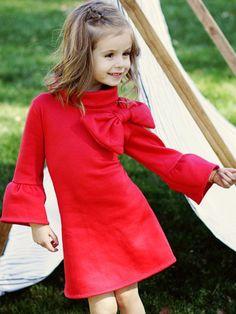 ELKE - Girls Stretch Dress Sewing Pattern