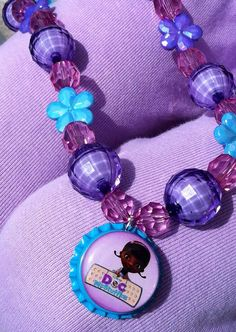 Doc Mc Stuffins Inspired Chunky Necklace by LeahElizabethDesigns, $16.99