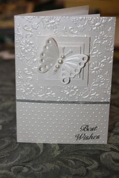 Sentiments – Page 10 – Helens Card Designs Wedding Shower Cards, Wedding Cards, Making Greeting Cards, Greeting Cards Handmade, Wedding Anniversary Cards, Happy Anniversary, Engagement Cards, Embossed Cards, Butterfly Cards