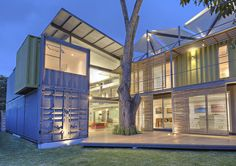 Finished in 2013, the 3,660-square-foot Casa Incubo was built from stacking and sliding four shipping containers to create a residence and gallery for photographer Sergio Pucci. Courtesy of Sergio Pucci.