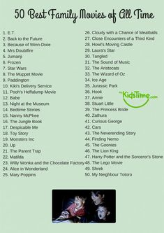 50 of the Best Family Movies of All Time Checklist