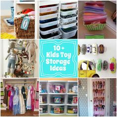 kids toy storage ideas via Design Dazzle.     Great post with links to some great ideas! (ANYONE who can keep toys organized like this is my hero, I'm lucky when kids have the toys wind up in the toy box!)