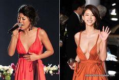 Oh In Hye 오인혜 from South Korea - Lenglui Angelina Jolie Body, Film Red, Grecian Goddess, Cute Korean Girl, Portrait Poses, International Film Festival, Red Carpet Dresses, Orange Dress, Korean Women