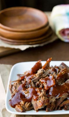 Slow Cooker Pineapple Chipotle Beef Recipe - crock pot dinner that's a great sweet and spicy filling for tacos or burritos!