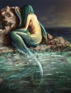 Crying mermaid illustrations artworks