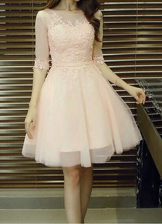 Appliques Pretty Homecoming Dress,Sexy Party Dress,Charming Homecoming Dress,Graduation Dress,Homecoming Dress - - Hübsches Ballkleid ♡ Source by Pretty Homecoming Dresses, Prom Dresses With Sleeves, Grad Dresses, Pretty Dresses, Elegant Dresses, Sexy Dresses, Beautiful Dresses, Dress Outfits, Evening Dresses