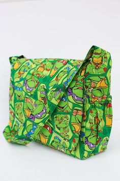 Hey, I found this really awesome Etsy listing at https://www.etsy.com/listing/187085837/punk-rock-ninja-turtles-diaper-bag