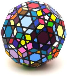 Tuttminx Classic (scrambled) by VeryPuzzle Rubiks Cube Algorithms, Geodesic Sphere, Figet Toys, Math Patterns, Logic Puzzles, Cube Puzzle, Sacred Geometry, Rainbow Colors, Retro