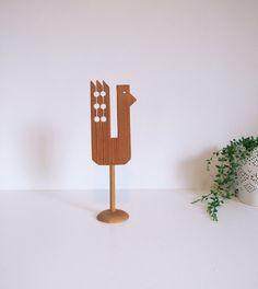 Pájaro sueco de madera // Pájaro folk art // por tiendanordica