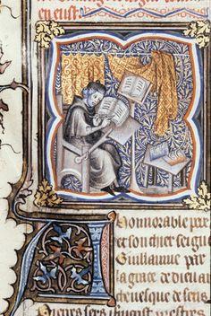 Peter Comestor at work  Guyart des Moulins, La Bible historiale complétée (Genesis - Psalms)  France, Central (Paris?); 1357