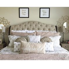 Sweet dreams. We want to curl up in this feminine chic space that @kallibdavis designed with lots of #fabfound finds!