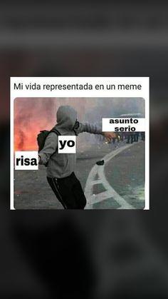 Yo me rio Funny Spanish Memes, Spanish Humor, Funny Jokes, Humor Mexicano, Sarcasm Humor, Otaku Anime, Fnaf, Bts Memes, Funny Images