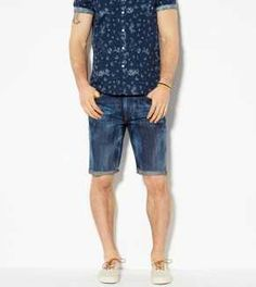 AE Bleached Denim Cutoff Short