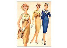 Vintage 1950's Empire Dress and Spencer by PrettyPatternShop, $24.95