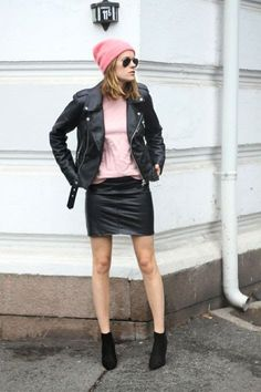 How to style: Pink and black