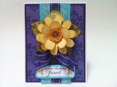 flower card using the Flower Shoppe Cricut Cartridge